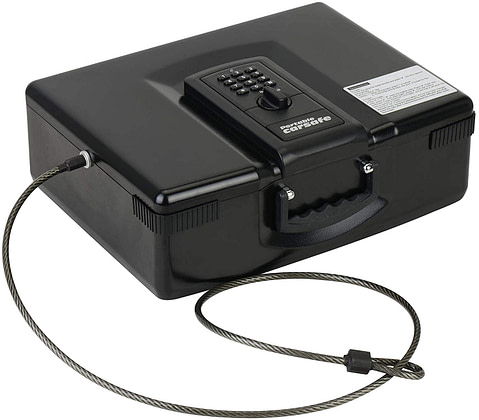 Caesar Safe Portable Electronic Digital Car Multipurpose Laptop Gun Safe