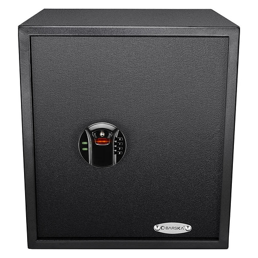 BARSKA HQ400 Large 1.94 Cubic Feet Steel Biometric Fingerprint Keypad Safe