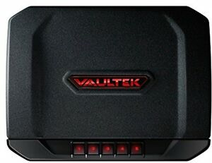 Vaultek VT20i Biometric Handgun Bluetooth Smart Safe Pistol Safe with Auto-Open Lid and Rechargeable Battery